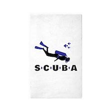 Scuba diver Area Rug