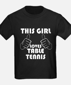 This Girl Loves Table Tennis T-Shirt