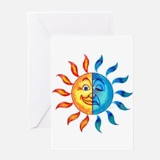 BiPolar Solar Greeting Card