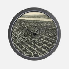 Vintage Pictorial Map of Tulsa (1918) Wall Clock