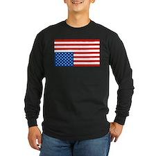 Upside Down USA Flag T