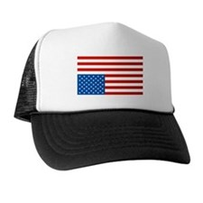 Upside Down USA Flag Trucker Hat