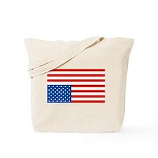 Upside Down USA Flag Tote Bag