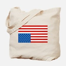 Upside Down USA Flag Tote Bag