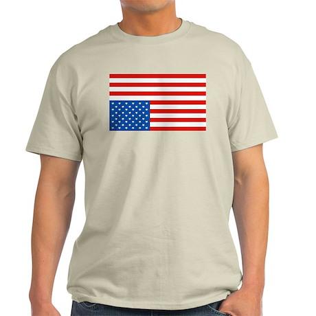 Upside Down USA Flag Light T-Shirt
