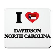 I love Davidson North Carolina Mousepad