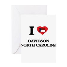 I love Davidson North Carolina Greeting Cards