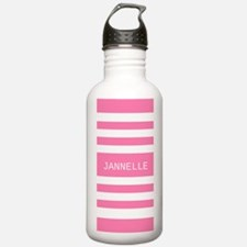 Personalized Pink and Water Bottle