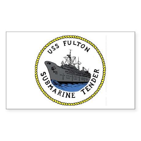 USS Fulton (AS 11) Rectangle Sticker