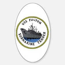 USS Fulton (AS 11) Oval Decal