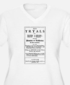 Historical Pirate Trials Plus Size T-Shirt