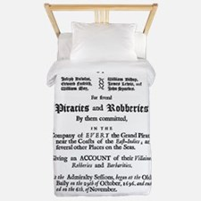 Historical Pirate Trials Twin Duvet