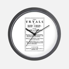 Historical Pirate Trials Wall Clock
