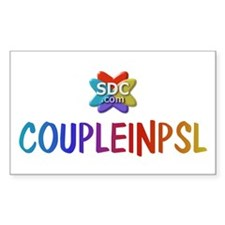 COUPLEINPSL Products Rectangle Decal