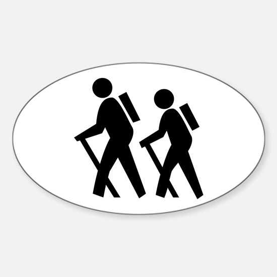 Hiking Oval Bumper Stickers