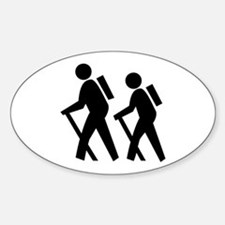 Hiking Oval Stickers