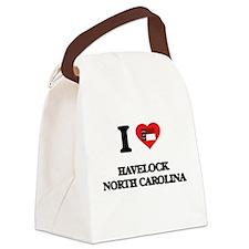 I love Havelock North Carolina Canvas Lunch Bag
