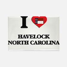 I love Havelock North Carolina Magnets
