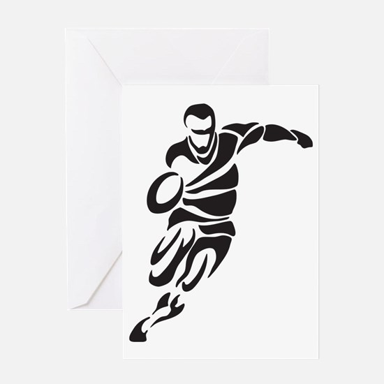 Rugby Player Greeting Card
