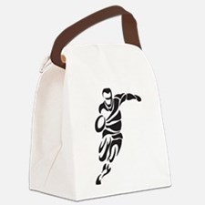Rugby Player Canvas Lunch Bag