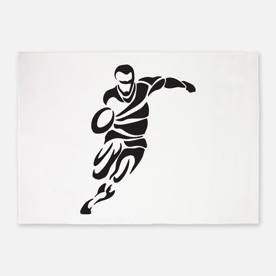 Rugby Player 5'x7'Area Rug