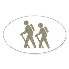 Vintage Hiking Oval Decal