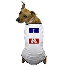 Eiffel Tower French Flag Dog T-Shirt