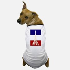 Eiffel Tower French Flag Dog T-Shirt