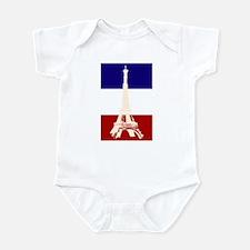 Eiffel Tower French Flag Infant Bodysuit