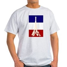 Eiffel Tower French Flag T-Shirt