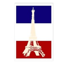 Eiffel Tower French Flag Postcards (Package of 8)