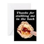 Thanks Backstabber CUNT Greeting Card