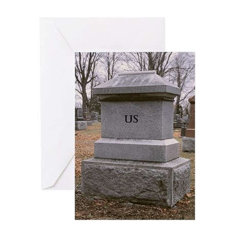It's Over - Headstone Break-Up Greeting Card