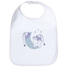 Moon and bear Bib