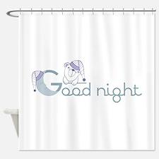 Good night sleep cap bear Shower Curtain