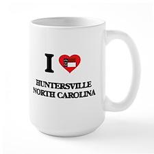 I love Huntersville North Carolina Mugs