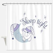Sleep tight bear Shower Curtain