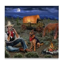 Lonesome Cowboy Tile Coaster