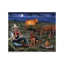 Lonesome Cowboy Throw Blanket