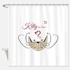 Kitty in love Shower Curtain