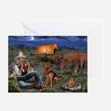 Lonesome Cowboy Greeting Cards