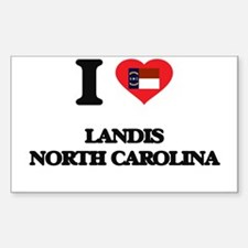 I love Landis North Carolina Decal