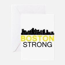 Boston Strong - Skyline Greeting Cards