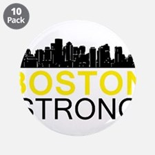 """Boston Strong - Skyline 3.5"""" Button (10 pack)"""