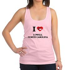 I love Lowell North Carolina Racerback Tank Top