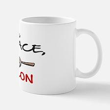 LOVE , PEACE, BACON Mug