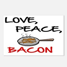 LOVE , PEACE, BACON Postcards (Package of 8)