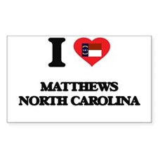 I love Matthews North Carolina Decal
