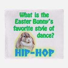 Easter Bunny Dance Hip Hop Throw Blanket
