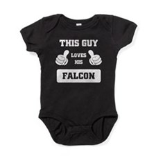 THIS GUY LOVES HIS FALCON Baby Bodysuit